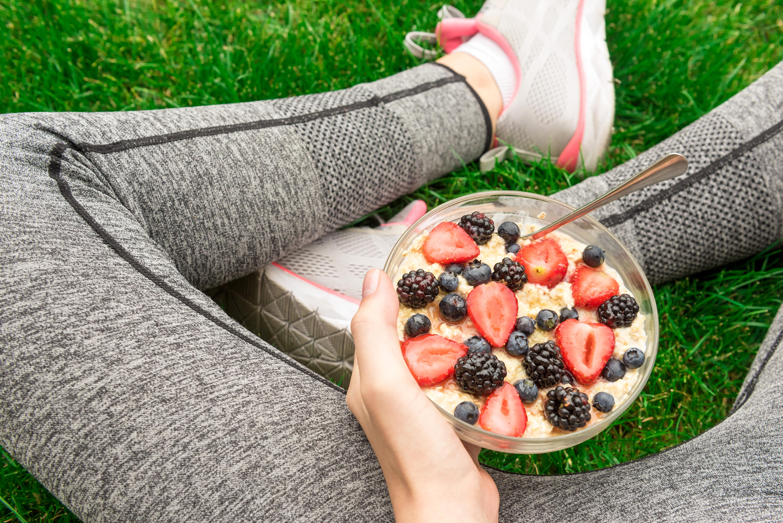 Foto van Sporten? Eet gezond.