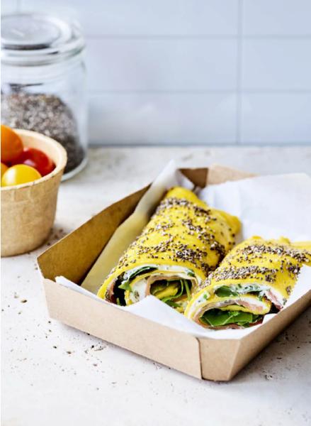 Foto van Chia-omeletwrap met kruidenkaas